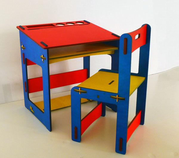 Colibrì SRLS - Tavolino con sedia in legno per bambini