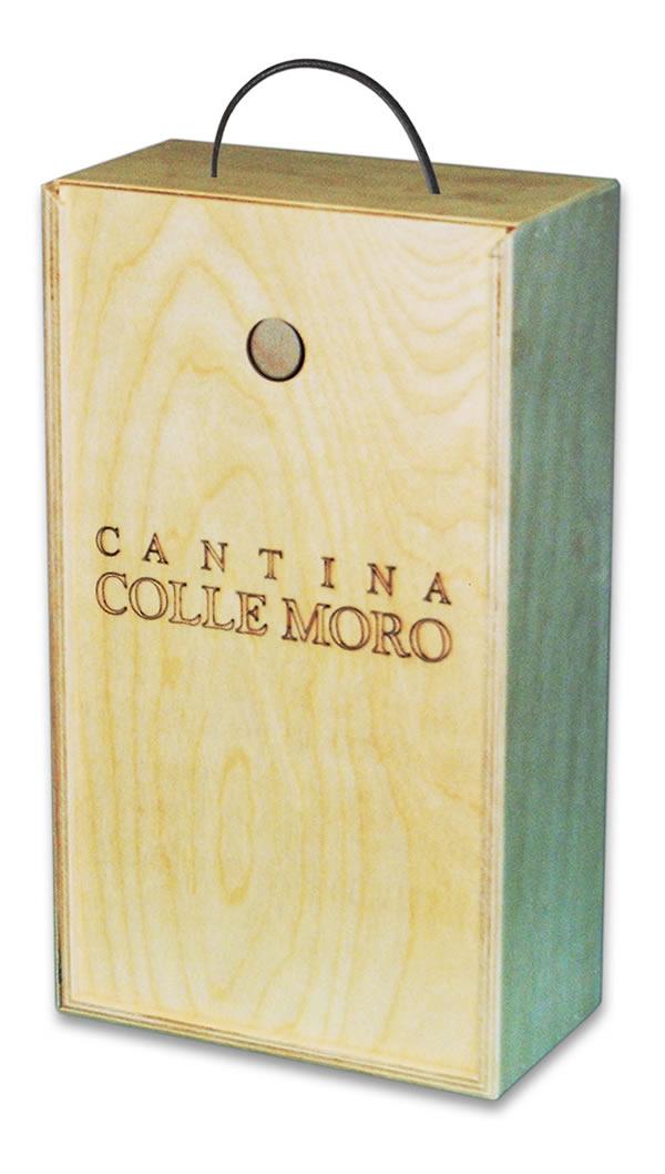 Scatola in legno per bottiglie di vino