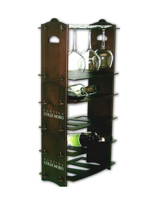 Espositore portabottiglie durevole da banco per bottiglie for Bicchieri in legno
