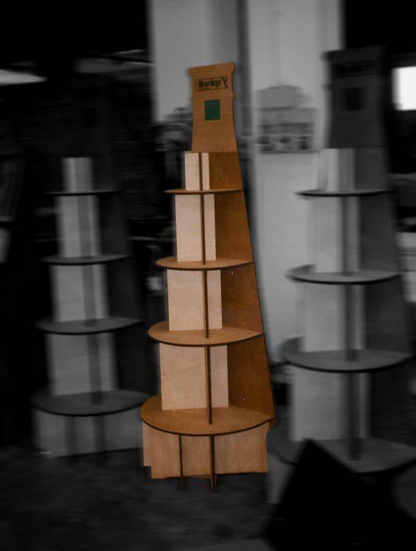 Espositore durevole da terra in legno porta bottiglie