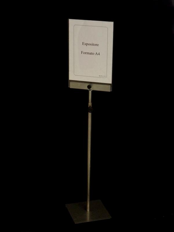 Leggio con piantana regolabile in altezza da terra in plexiglass trasparente per comunicazioni - Altezza finestre da terra ...